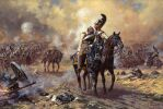 Alexander Averyanov. Battle of Borodino. Russian cuirassiers against Polish uhlans
