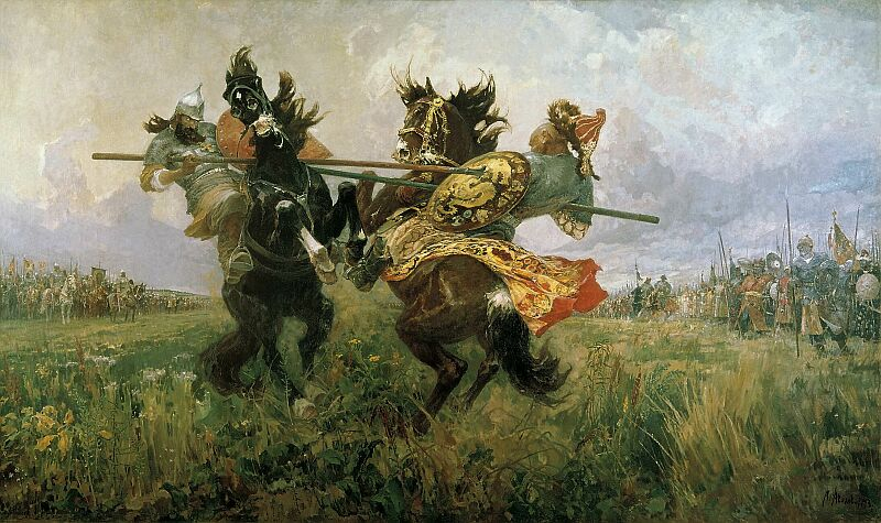 Mihail Ivanovich Avilov. Single Combat of Peresvet and Chelubey