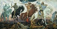 Victor Mihaylovich Vasnetsov. Four Horsemen of Apocalypse. 1887. SPb, The State Museum of the History of Religion